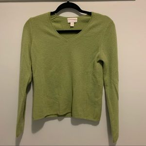 Charter Club 2 Ply 100% Cashmere Sweater, V-Neck